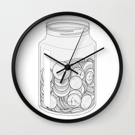 The Swear Jar Wall Clock