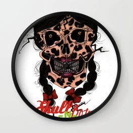 Skull-N-Bows Wall Clock
