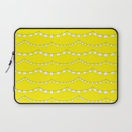Flag Banner Illustration in Happy Yellow and White Laptop Sleeve