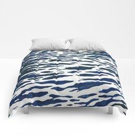 Night Ocean Wake Juul Art Comforters