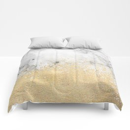 Gold Dust on Marble Comforters
