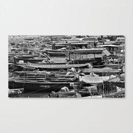 Hong Kong Water Traffic Canvas Print
