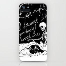 Last Night I Dreamt iPhone Case