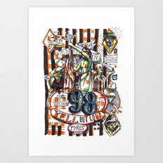 98 Yell Out Loud Art Print