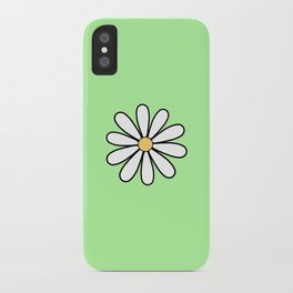 One Green Daisy iPhone Case