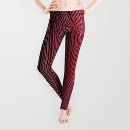 curve ribbon pattern red Leggings