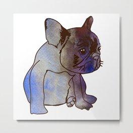 French Bulldog Puppy Cute baby Dog Metal Print