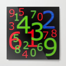RGB Numbers Metal Print