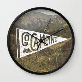 Go Camping Wall Clock