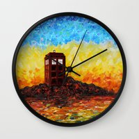 fandom Wall Clocks featuring Tardis at the twilight zone iPhone 4 4s 5 5c 6, pillow case, mugs and tshirt by Three Second