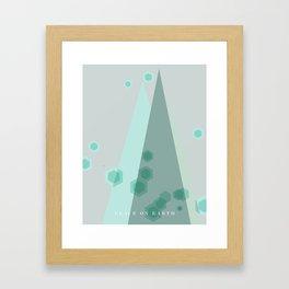 Modern Trees Color Mint Framed Art Print