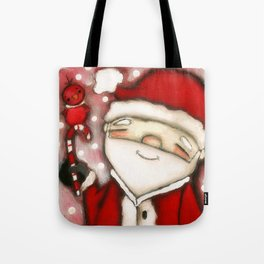Red Santa - by Diane Duda Tote Bag