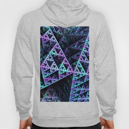 Lilac Ice 3D Sierpinski Triangle Fractal Art Hoody