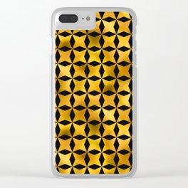 Art Deco Du Monde Pattern Clear iPhone Case