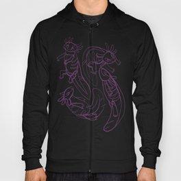Scribbled Axolotls in Color Hoody
