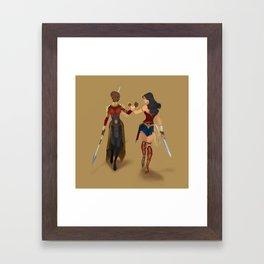 Heroines Unite Framed Art Print