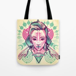 Alien Abduction - Anaglyph Tote Bag
