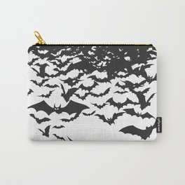 Halloween Bat Black and White Pattern Carry-All Pouch