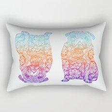 Mandala Pug Rectangular Pillow