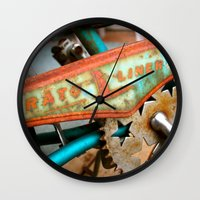 orphan black Wall Clocks featuring The Orphan by sarah mah