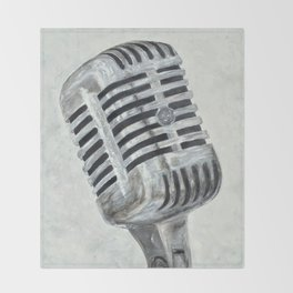 Vintage Microphone Throw Blanket