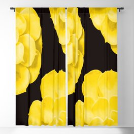 Large Yellow Succulent On Black Background #decor #society6 #buyart Blackout Curtain