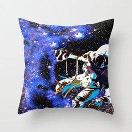 Astronaut Falling Throw Pillow