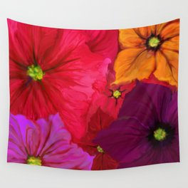 Surfinie and anemones Wall Tapestry