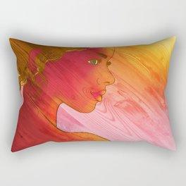 Independent Woman Sunset Rectangular Pillow