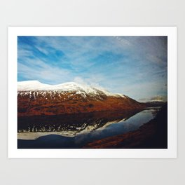 Beyond The Mountains Art Print