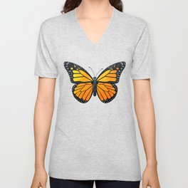 Monarch Butterfly Pattern Unisex V-Neck