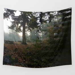 Divided In Fall (There Are No Picnics Here) Wall Tapestry