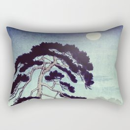 At the Moon in Zensein Rectangular Pillow