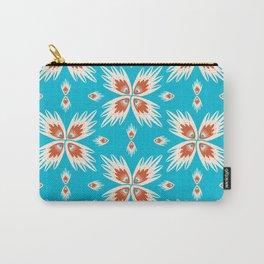 Bold Oriental Pattern - Blue Orange Palette Carry-All Pouch
