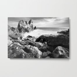 Corona del Mar beach in Southern California Metal Print