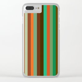 Lined Up Clear iPhone Case