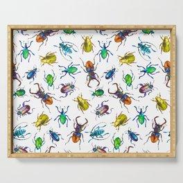 watercolor beetles Serving Tray