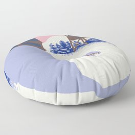 Lake Placid Olympic bobsled run Floor Pillow