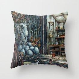 The Brood Throw Pillow