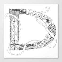 """Zenletter """"D"""" Canvas Print"""