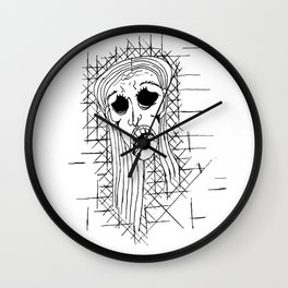 Exhausted Face Wall Clock