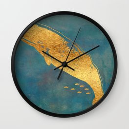 Deep Sea Life Whale Wall Clock