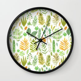 Leaves Large Wall Clock