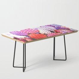 Purple cactus illustration Coffee Table