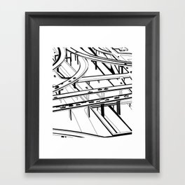 Los Angeles Black and White Framed Art Print