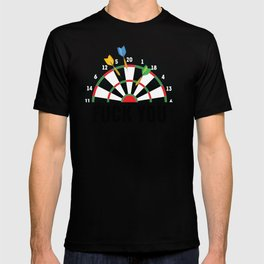 Funny Darts gift Gift for Dart Players , Professional and Amateur Tournament Bullseye Throw T-shirt