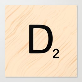 Scrabble Letter D - Large Scrabble Tiles Canvas Print