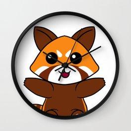 Red Panda  Giant  Forest Bear Mammal  Animal Gift  Wall Clock