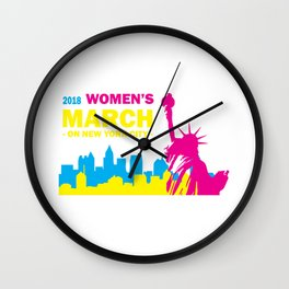 Women's March Relaxed Fit T-Shirt Wall Clock