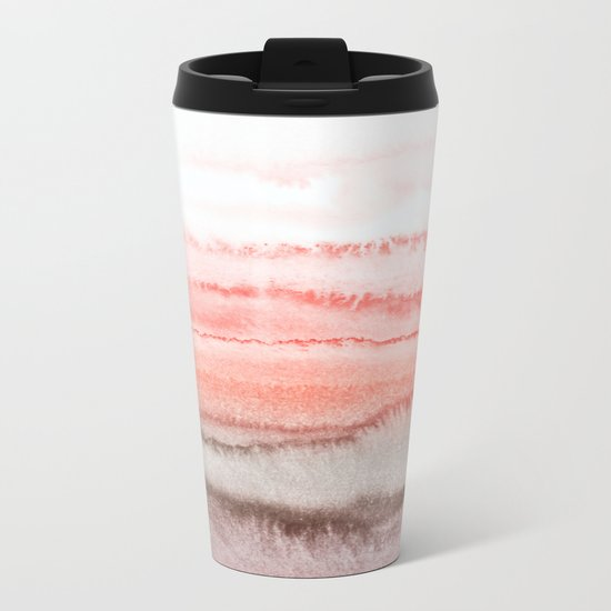 WITHIN THE TIDES CORAL DAWN Metal Travel Mug